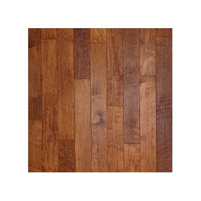 "Anderson Floors Hickory Forge 5"" Engineered Hickory Flooring in Branding Iron"