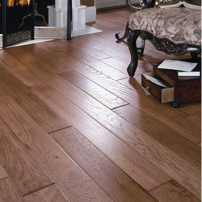 "Appalachian Flooring Shenandoah Solid 4"" Solid Red Oak Flooring in Weathered Wagon"