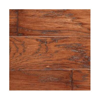 "LM Flooring Gevaldo 5"" Engineered Hickory Flooring in Tobacco"