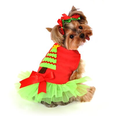 Anit Accessories Christmas Tree Dress Dog Costume