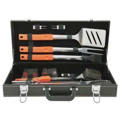 Mr. Bar-B-Q 20 Piece Stainless Steel Grilling Tool Set in Attache Case