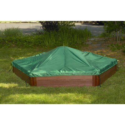 Frame It All Two High 7' Hexagon Sandbox with Cover