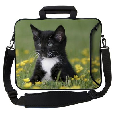 Executive Sleeves Midnight Kitten PC Laptop Bag