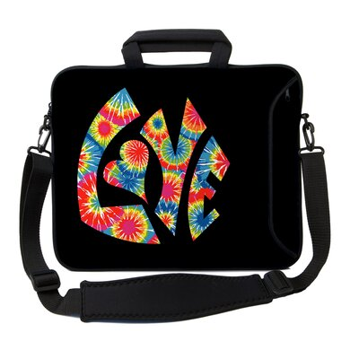 Designer Sleeves Executive Sleeves Tie Dye Love PC Laptop Bag
