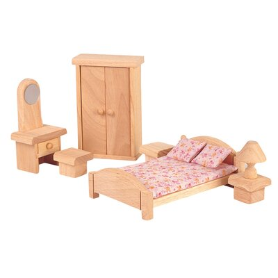 Plan Toys Dollhouse Bedroom - Classic