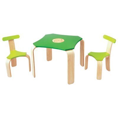 Plan Toys Large Scale Kids' 3 Piece Table and Chair Set