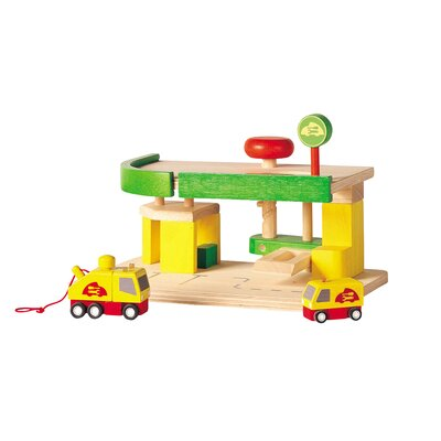 Plan Toys City Car Repair and Service Station