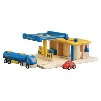 Plan Toys City Gas Station
