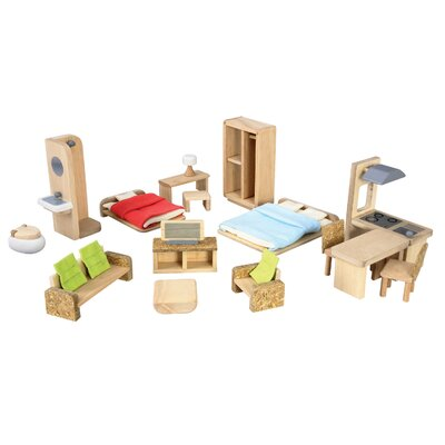 Plan Toys Dollhouse Green Furniture