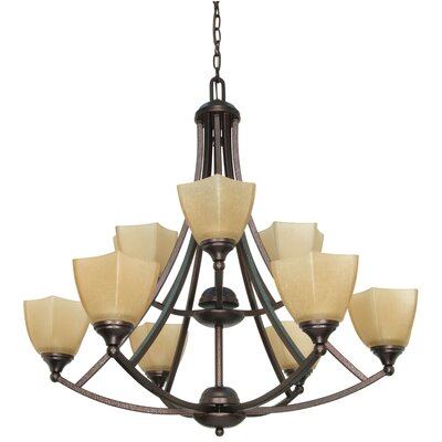 Nuvo Lighting Normandy 9 Light Chandelier