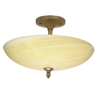 Nuvo Lighting Vanguard  Semi Flush Mount in Flemish Gold