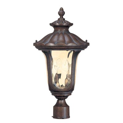 Nuvo Lighting Beaumont  Mid-Size Post Lantern in Fruitwood