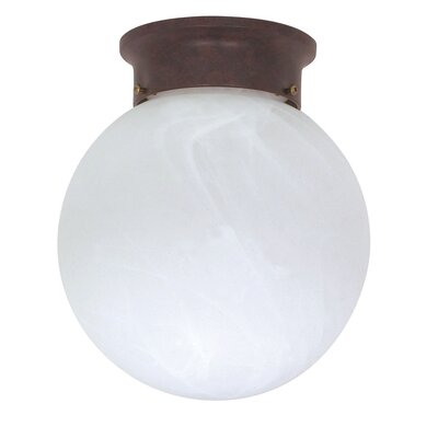 Nuvo Lighting 1 Light Ball Semi Flush Mount