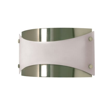 Nuvo Lighting  Wall Sconce with Frosted Glass in Brushed Nickel