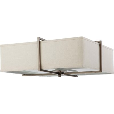 Nuvo Lighting Logan Contemporary 4 Light Flush Mount