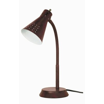 Nuvo Lighting One Light Small Goose Neck Desk Lamp in Bronze