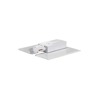 Nuvo Lighting Track Light Live End and Canopy in White