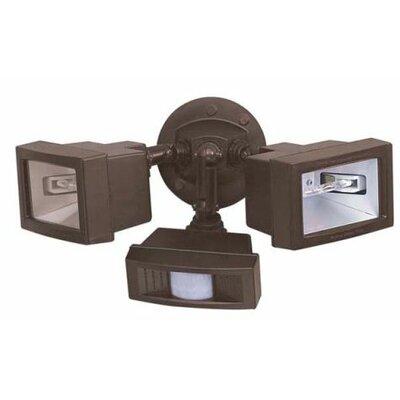 nuvo lighting 2 light flood light with motion sensor. Black Bedroom Furniture Sets. Home Design Ideas