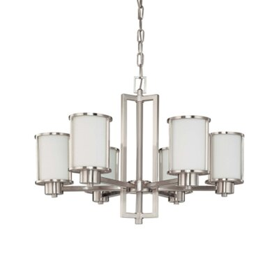 Nuvo Lighting Odeon 6 Light Chandelier