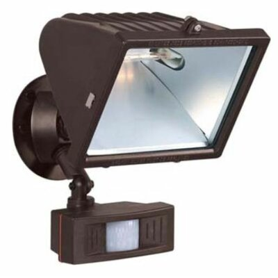 "Nuvo Lighting 1 Light - 12"" - Flood Light, Exterior - Large Halogen w/Motion Sensor"