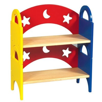 Guidecraft Moon & Stars Stacking Bookshelf