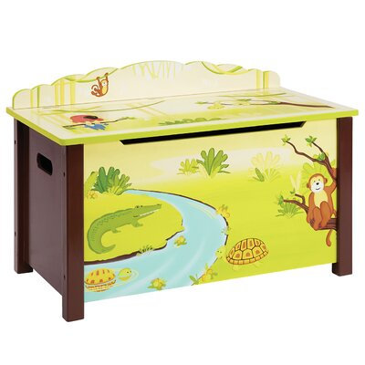 Guidecraft Jungle Party Toy Box