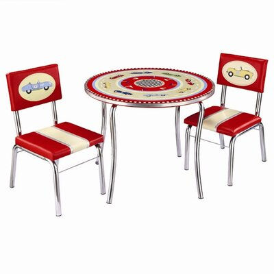 Guidecraft Retro Racers Kids' 3 Piece Table and Chair Set