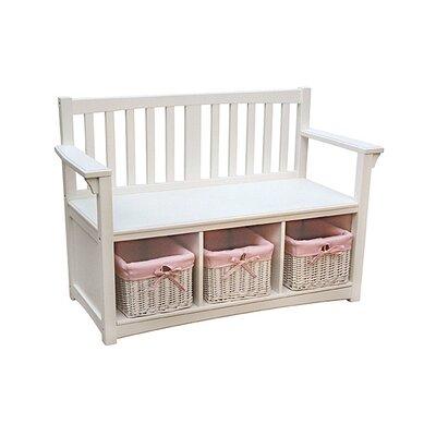 Guidecraft Classic Wooden Storage Bench