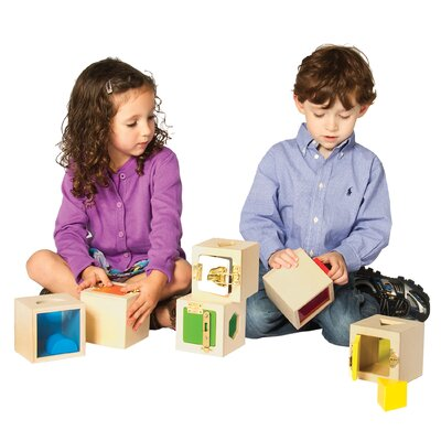 Guidecraft Peekaboo Lock Boxes (Set of 6)