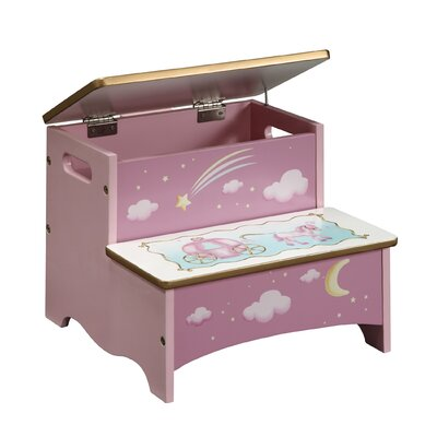 Guidecraft Princess 2-Step Storage Step Stool