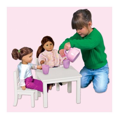 Guidecraft Doll Table and Chair Set in White