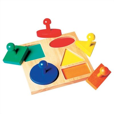 Guidecraft Geometric Shape Puzzle Board