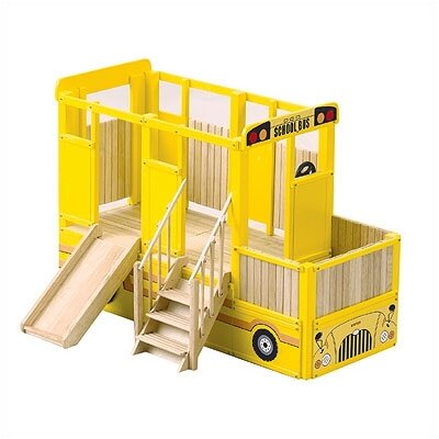 Guidecraft Loft School Bus Play Indoor Playground