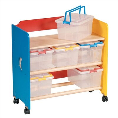 Guidecraft Moon & Stars Contender 6 Compartment Cubby