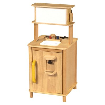 Guidecraft Natural Kitchenette Center Play Kitchen Set