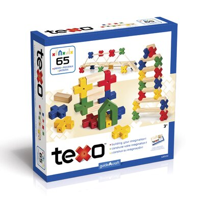 Guidecraft Construction Toys Texo 65 Piece Building Set