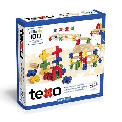 Guidecraft Construction Toys Texo 100 Piece Building Set