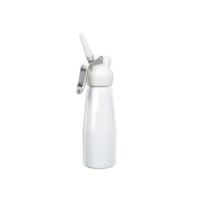 Liss Dessert Chef 1 Pint Enamelled Cream Whipper in White Aluminum