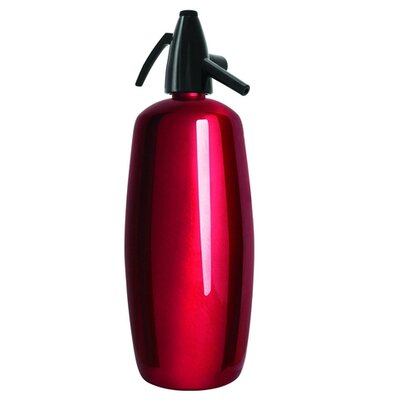 Liss Professional 2 Quart Soda Siphon in Red Stainless Steel