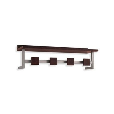 Calligaris Landscape Wall-Mounted Coat Rack in Wenge