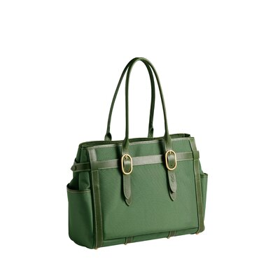 Contemporary Classic Nylon Everyday Tote in Leaf Green