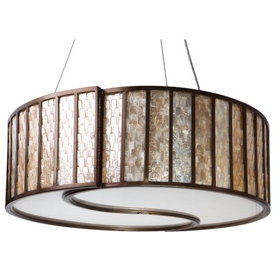 Varaluz Affinity 5 Light Drum Foyer Pendant