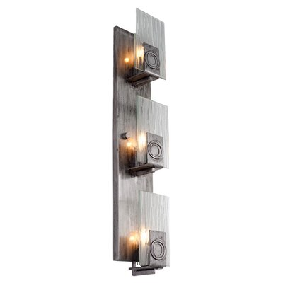 Varaluz Polar 3 Light Vertical Recycled Wall Sconce