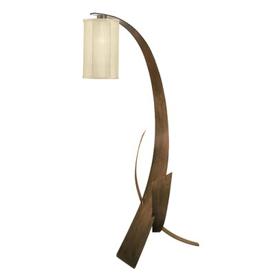 Varaluz Aizen Floor Lamp in Hammered Ore