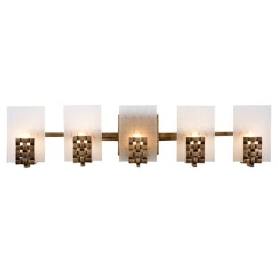Varaluz Dreamweaver Recycled 5 Light Bath Vanity Light
