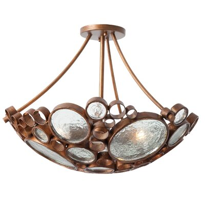 Varaluz Recycled Fascination Semi Flush Mount Ceiling Light