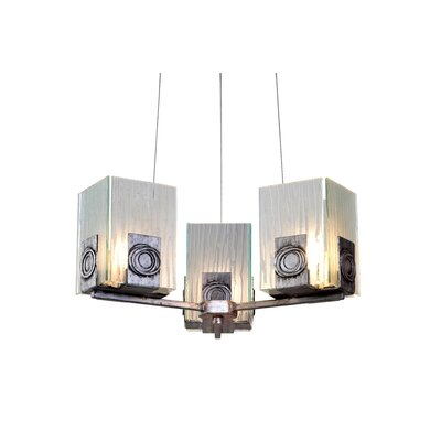 Varaluz Recycled Polar 3 Light Chandelier
