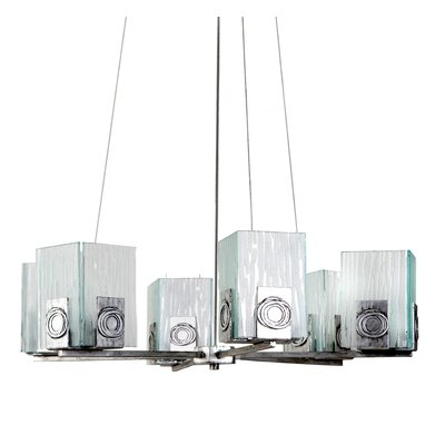 Varaluz Recycled Polar 6 Light Chandelier