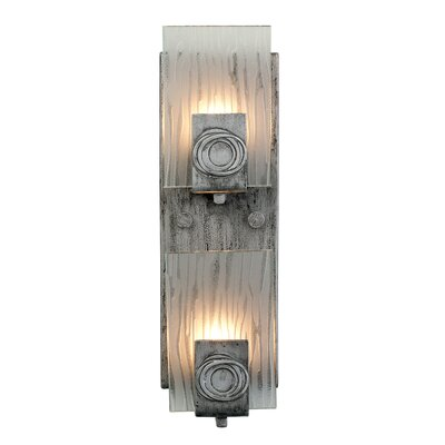 Varaluz Polar 2 Light Vertical Recycled Wall Sconce