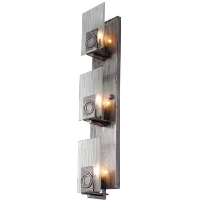 Varaluz Recycled Polar Wall Sconce - Vertical Three Light